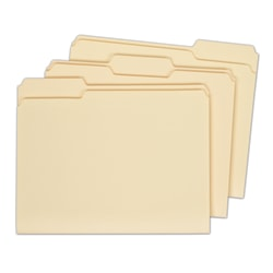 Office Depot® Brand File Folders, Letter Size, 100% Recycled, Manila, Pack Of 100