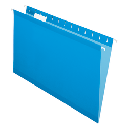 "Office Depot® Brand Hanging Folders, 15 3/4"" x 9 3/8"", Legal Size, Blue, Box Of 25"