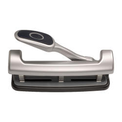 """OIC EZ Level 2-3 Hole Adjustable Punch - 3 Punch Head(s) - 25 Sheet Capacity - 9/32"""" Punch Size - Silver"""