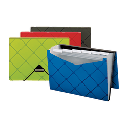 OfficeMax Expanding File, 7-Pocket, Letter Size, Assorted Colors