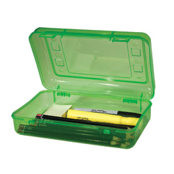 "Innovative Storage Designs Pencil Box, 8 1/2"" x 5 1/2"", Assorted Colors"