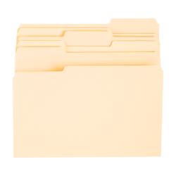 Office Depot® Brand File Folders, 1/3 Tab Cut, Letter Size, Manila, Pack of 24 Folders
