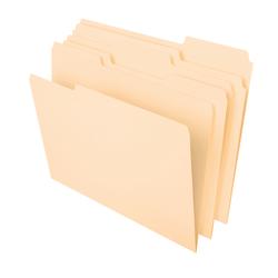 "Office Depot® Heavyweight Manila File Folders, 1/3 Cut, Letter Size (8-1/2"" x 11""), Manila, Box Of 50 Folders"