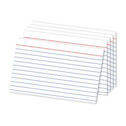 """Office Depot® Brand Ruled Index Cards, 4"""" x 6"""", White, Pack Of 300"""