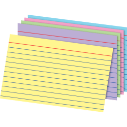 """Office Depot® Brand Index Cards, 4"""" x 6"""", Rainbow, Pack Of 100"""