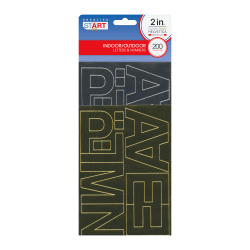"""Creative Start® Self-Adhesive Letters, Numbers and Symbols, 2"""", Helvetica, Metallic Silver and Gold, Pack Of 200"""