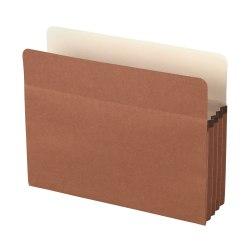 """Office Depot® Brand Standard File Pocket, 3 1/2"""" Expansion, Letter Size, Brown"""