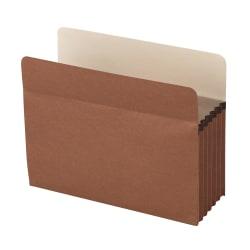 """Office Depot® Brand Standard File Pocket, 5 1/4"""" Expansion, Letter Size, Brown"""