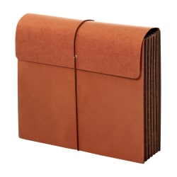 "Office Depot® Brand Paper Tyvek Extra-Wide Wallets,, 1 Pocket, Expansion 5-1/4"", 8 1/2"" x 11"", Letter, Brown, Pack of 2"