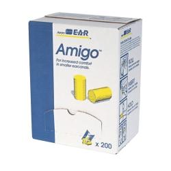3M E-A-R Classic Earplugs, Small, Yellow, Box Of 200 Pairs