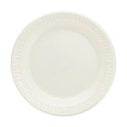 "Dart Classic Laminated Foam Dinnerware Plates - 6"" Diameter Dinner Plate - Foam - White - 1000 Piece(s) / Carton"