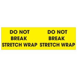 """Tape Logic® Preprinted Pallet Protection Labels, DL1196, 3"""" x 10"""", """"Do Not Break Stretch Wrap"""", Fluorescent Yellow, Roll Of 500"""