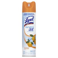 Lysol® Neutra Air Sanitizing Spray Air Freshener, Citrus Zest Scent, 10 Oz