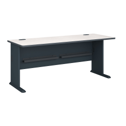 "Bush Business Furniture Office Advantage Desk 72""W, Slate/White Spectrum, Standard Delivery"