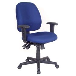 Raynor® 4 x 4 Fabric Task Chair, Navy/Black