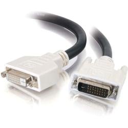 C2G 2m DVI-D M/F Dual Link Digital Video Extension Cable (6.5ft) - DVI-D Male - DVI-D Female Video - 6.56ft - Black