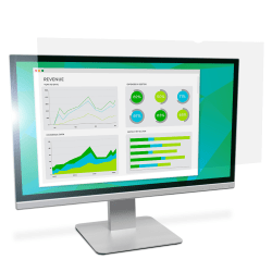 """3M™ Anti-Glare Screen Filter for Monitors, 24"""" Widescreen (16:10), Reduces Blue Light, AG240W1B"""