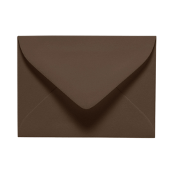 "LUX Mini Envelopes With Moisture Closure, #17, 2 11/16"" x 3 11/16"", Chocolate Brown, Pack Of 50"