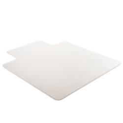 """Realspace™ Medium-Pile Chair Mat With Beveled Edge, 45"""" x 53"""", Clear"""