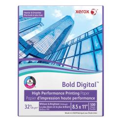 "Xerox® Bold Digital™ Printing Paper, Letter Size (8 1/2"" x 11""), 100 (U.S.) Brightness, 32 Lb Text (120 gsm), FSC® Certified, Ream Of 500 Sheets"