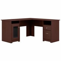 Bush Furniture Cabot L Shaped Desk, Harvest Cherry, Standard Delivery