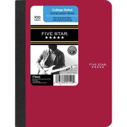 """Five Star® Composition Book, 7 1/2"""" x 9 3/4"""", College Ruled, 100 Sheets"""