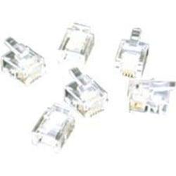C2G RJ11 6x4 Modular Plug for Flat Stranded Cable - 25pk - RJ-11