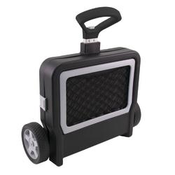 "Fusion Mobile Folding Cargo Cart, 41""H x 21""W x 18 3/4""D, Black"
