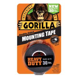 "Gorilla Glue™ Heavy-Duty Double-Sided Mounting Tape, 1"" x 1.67 yd., Black"