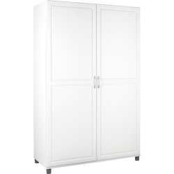 Ameriwood™ Home SystemBuild Kendall Storage Cabinet, Wardrobe, 6 Shelves, White