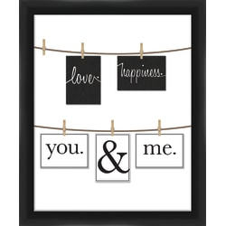 """PTM Images Photo Frame, You And Me, 22 3/4""""H x 1 5/8""""W x 24 3/4""""D, Black/White"""
