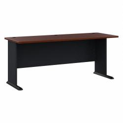 "Bush Business Furniture Office Advantage Desk 72""W, Hansen Cherry/Galaxy, Standard Delivery"