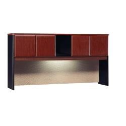 "Bush Business Furniture Office Advantage Hutch 72""W, Hansen Cherry/Galaxy, Standard Delivery"