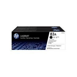 HP 83A Black Toner Cartridges (CF283AD), Pack Of 2