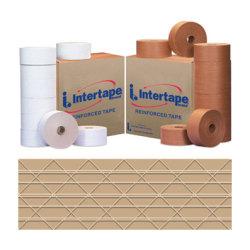 "Intertape Kraft Carton Master Reinforced Tape, 3"" x 150 Yd., Pack Of 10"