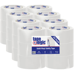 """Partners Brand Solid Vinyl Safety Tape, 2"""" x 36 Yd., White, Case Of 24"""