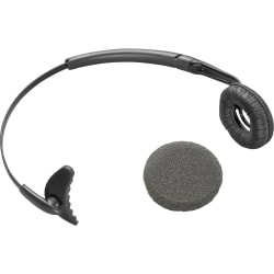 Plantronics® Uniband Headband With Leatherette Ear Cushion For Wireless Headsets, Black