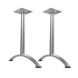 WorkPro® Flex Collection Steel Arc Legs, Fixed Height, Silver, Set Of 2 Legs
