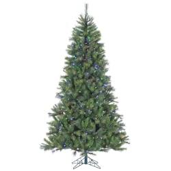 Canyon Pine Artificial Christmas Tree, 7 1/2', 500 LED Multi-Color Lights, Green/Black