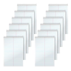 "TOPS™ Steno Books, 6"" x 9"", Gregg Ruled, 70 Sheets, White, Pack Of 12"