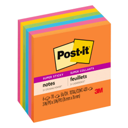 """Post-it® Super Sticky Notes, 3"""" x 3"""", Rio de Janeiro, Pack Of 6 Pads"""