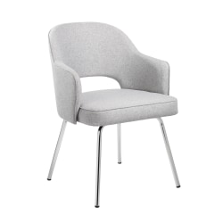 Boss Office Products Linen Guest Chair, Gray