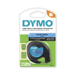 "DYMO® LetraTag 91335 Black-On-Blue Labeling Tape, 0.5"" x 13'"
