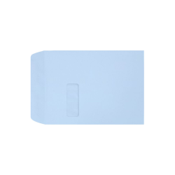 "LUX Open-End Window Envelopes With Moisture Closure, #9 1/2, 9"" x 12"", Baby Blue, Pack Of 50"