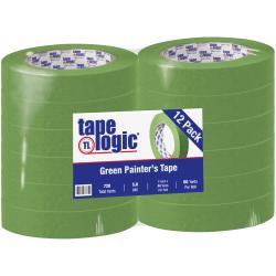 "Tape Logic® 3200 Painter's Tape, 3"" Core, 1"" x 180', Green, Case Of 12"