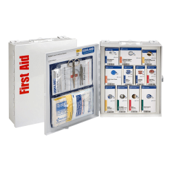 First Aid Only SmartCompliance Metal First Aid Cabinet,Medium, White, 94 Pieces