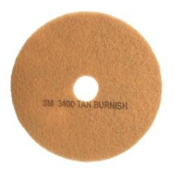 """3M™ Niagara 3100N Burnish Floor Pads, 21"""", Tan, Pack Of 5 Pads"""