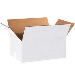"""Office Depot® Brand Corrugated Boxes, 8""""H x 12""""W x 18""""D, White, Bundle Of 25"""