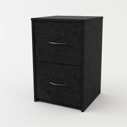 "Ameriwood™ Home 15""D Vertical 2-Drawer File Cabinet, Black Ebony Ash"