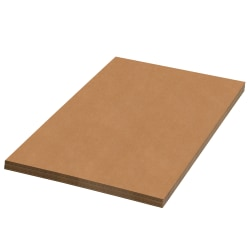 """Office Depot® Brand Corrugated Sheets, 30"""" x 36"""", Kraft, Pack Of 5"""